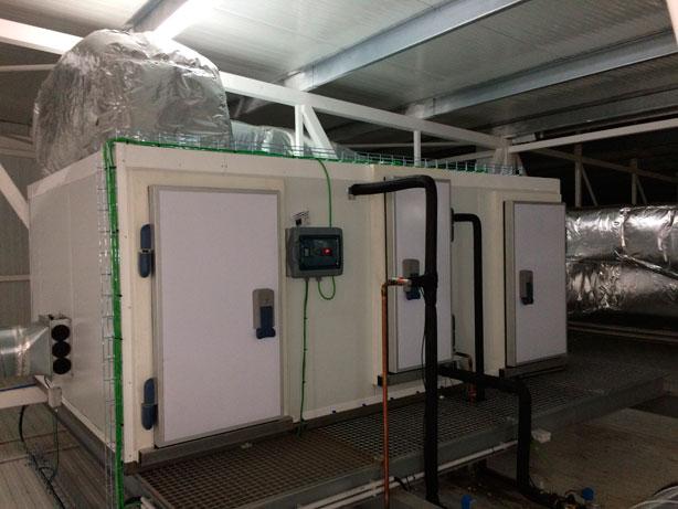 Control de humedad en cámaras de enfriamiento y refrigeración