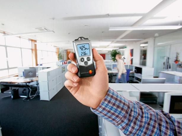Control de humedad en oficinas