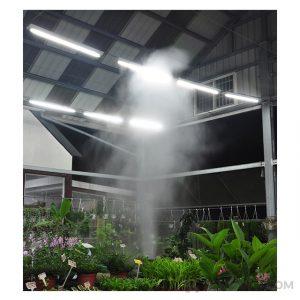Proceso de humidificacion en un invernadero