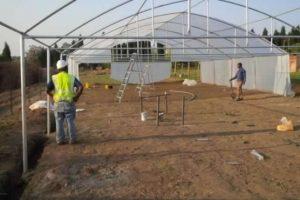 Humidificador en un invernadero sin cultivo
