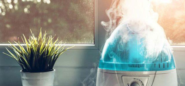 Uso de humidificador ambiental para evitar enfermedades respiratorias frecuentes debido a efectos negativos de una baja humedad